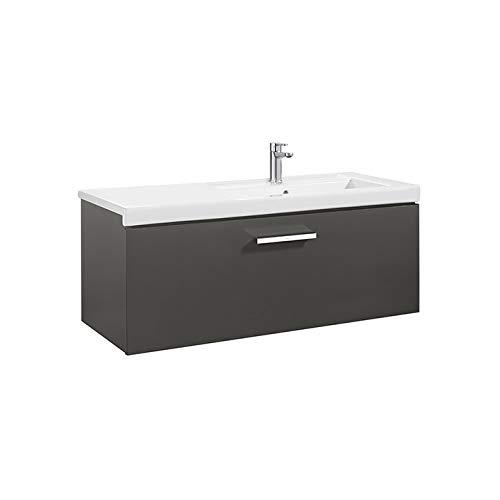 Roca Waschtisch Unik (Regal Grundlage mit einer Schublade und rechts Serie Prisma, anthrazit