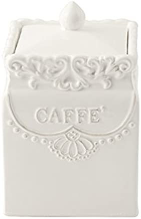 Ceramic White H/&H 131107/Framework Coffee Jar