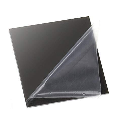XMRISE Clear Acrylic Sheet Cast Board Plexi Glass Panel Plastic Display Black Translucent Easy to Cut Bend DIY,11.8'x19.6'x0.08'