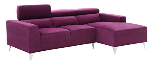 Glory Furniture Italia Sectional, Purple. Living Room Furniture, 28' H x 92' W x 58' D