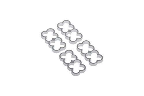 Alphacool 24771 Eiskamm Alu X8-4mm Silver - 4 Stück Modding Eiskamm