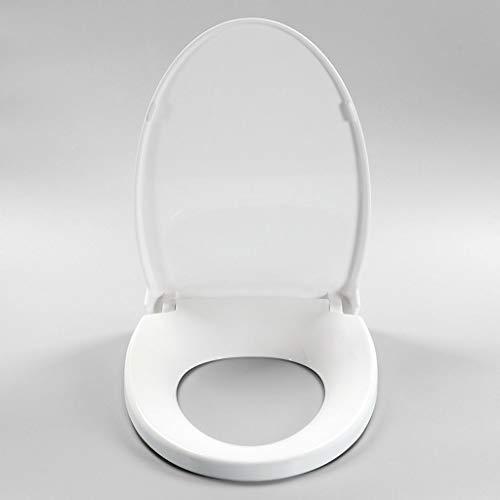 TOHOLOWW Antibakterielle Toilettensitz Runde Längliche WC Abdeckungen U-förmigen Platz Universal-ultradünne Toilettendeckel One Button Quick Release PP Kunststoff Material (Size : 360×470MM)