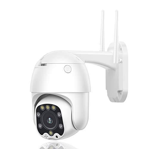 3G 4G SIM Card überwachungskamera Aussen, 360° Drehen PTZ Kamera IP Dome, Digitaler Outdoor, Zwei Wege Audio 60m IR-Nachtsich, IP66 wasserfest, Unterstützung SD Karte 4GAdd64G