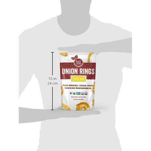 Raw Food Central Curt's Classic Onion Rings 100% Organic NON GMO Gluten Free Vegan (1.5 oz. ) 42 g.