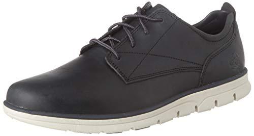 Timberland Bradstreet Plain Toe Sensorflex, Zapatos de Cordones Oxford Hombre, Gris Dark Grey Full Grain, 43 EU