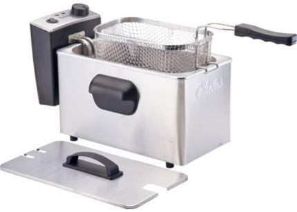 3.0L Deep Fryer, 1,750W Immersed Heating Element, Comes with a Cooking Bin, Metal Frying Basket, and Magnetic Power Cord