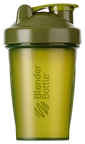 BlenderBottle Classic Shaker mit BlenderBall, optimal geeignet als Eiweiß Shaker, Protein Shaker, Wasserflasche, Trinkflasche, BPA frei, skaliert bis 400 ml, Fassungsvermögen 590 ml, moos grün