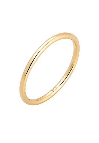 Elli PREMIUM Ring Damen Bandring Ehering Trauring Hochzeit in 585er Gelbgold