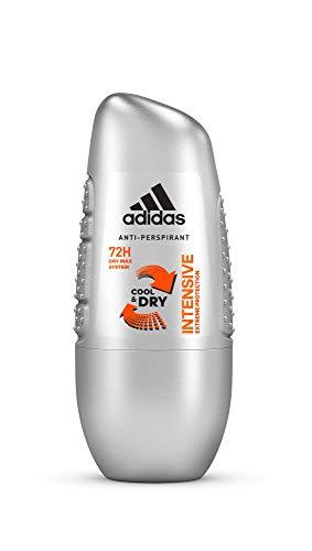 adidas Intensive Anti-Perpirant Deo Roll-on für Herren mit intensivem Schutz bis zu 72h, 6er Pack (6 x 50 ml)