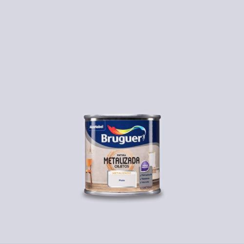 Bruguer Pintura Metalizada para objetos Plata 125 ml