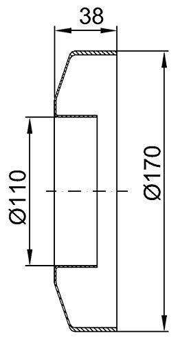 Abflussrohr RosetteWandrosette Siphonrosette Schubrosette WC Rosette DN110