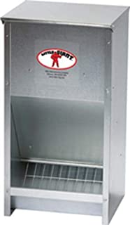 Miller 957772 Little Giant High Capacity Poultry Steel Feeder, 25 lb