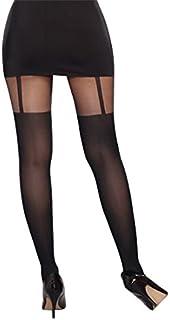 Dreamgirl Women's Sheer Pantyhose with Garters