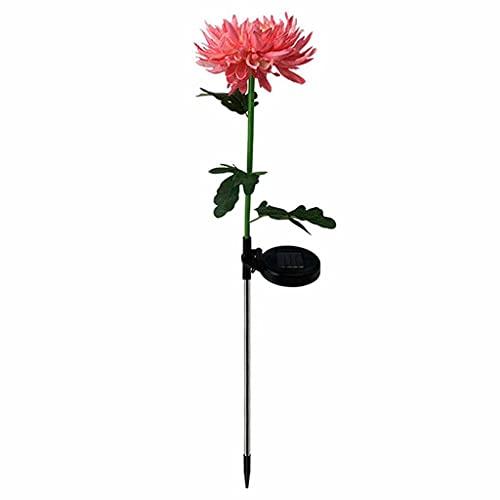 JJZXD 2 pz. PORTATO Solar Light Artificiale Chrysanthemum Simulazione Fiore all'aperto Impermeabile Giardino Giardino Prato Poggiateca Lampade Art Art per la Decorazione del Cortile per la casa