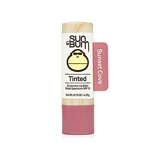 Sun Bum Tinted Lip Balm Sunset Cove | SPF 15 | UVA / UVB Broad Spectrum Protection | Sensitive Skin Safe | Hypoallergenic, Paraben Free | Ozybenzone Free | 0.15 Oz