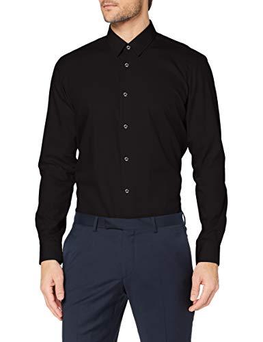 HUGO Herren Vidal 10181991 02 Hemd, Black1, 44