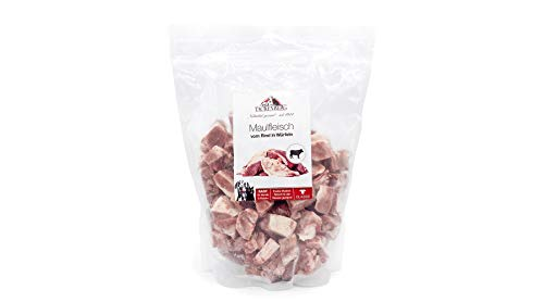 TACKENBERG Barf Hundefutter in Würfeln (Maulfleisch Rind), Barf Futter, Barf Fleisch Hunde, Frisch