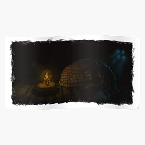 Generic Misery Lonely Guar Sad Birthday Scrolls Morrowind Elder I Fsgteam- Impressive and Trendy Poster Print Decor Wall or Desk Mount Options
