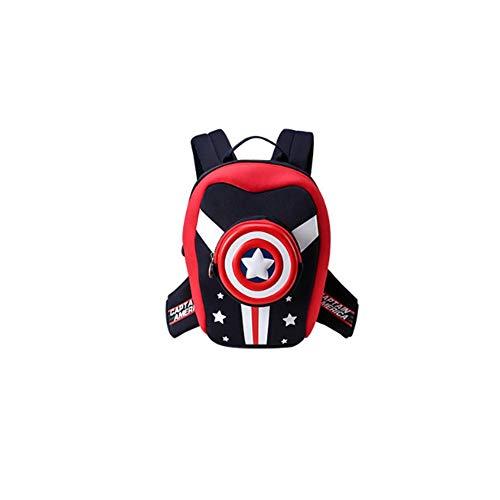 QUAN YOU Kinder Schultasche -Kindergarten 1-5 Jahre Alter Junge Marvel-Serie Cartoon niedliche Kinder Rucksack Flut Gepäck/Rucksack/Kinderrucksack (Color : Red, Size : 30 * 24.5 * 14cm)