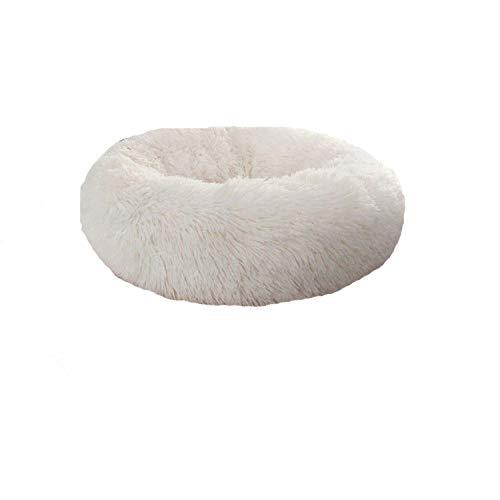 ZGTQC Dierbenodigdheden Kennel Kattennest Ronde Pluche Huisdier Nest Mat Huisdier Bed Kattenbed Hondenbed