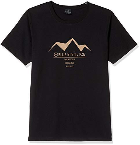 [オンヨネ] 機能Tシャツ BLUE infinity ICE BIJ92702 PRINT T-SHIRT 009BLACK 日本 M (日本サイズM相当)