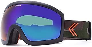 KREEDOM Park Goggle, Black Satin with Green Chrome Lens