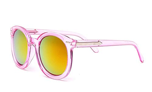 P-WEIAN zonnebril pijl retro klinknagels rond frame kleurrijk kwik zonnebril trend bril