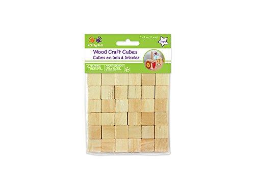 Multicraft Imports Craftwood 5/8 po Cubes en bois 56/Pkg-Natural