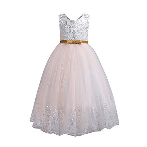 Julhold 2019 Neu Baby Mädchen Ärmelloses Blumen Pailletten Elegantes Kleid Spitzenkleider Formelles Brautkleid 3-9 Jahre
