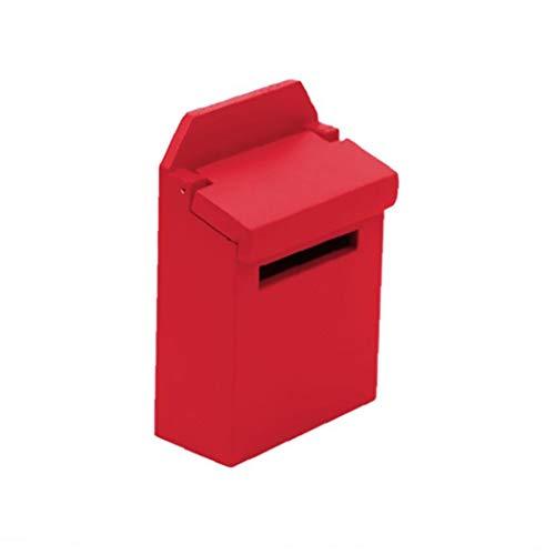 lulongyansf Simulación Buzón muñeca de Juguete para la casa Conjunto Mini buzón de Madera para la decoración roja