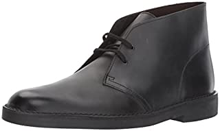 Clarks Men's Bushacre 2 Chukka Boot, Black Waxy Leather, 7 Medium US (B01MYY64JJ) | Amazon price tracker / tracking, Amazon price history charts, Amazon price watches, Amazon price drop alerts