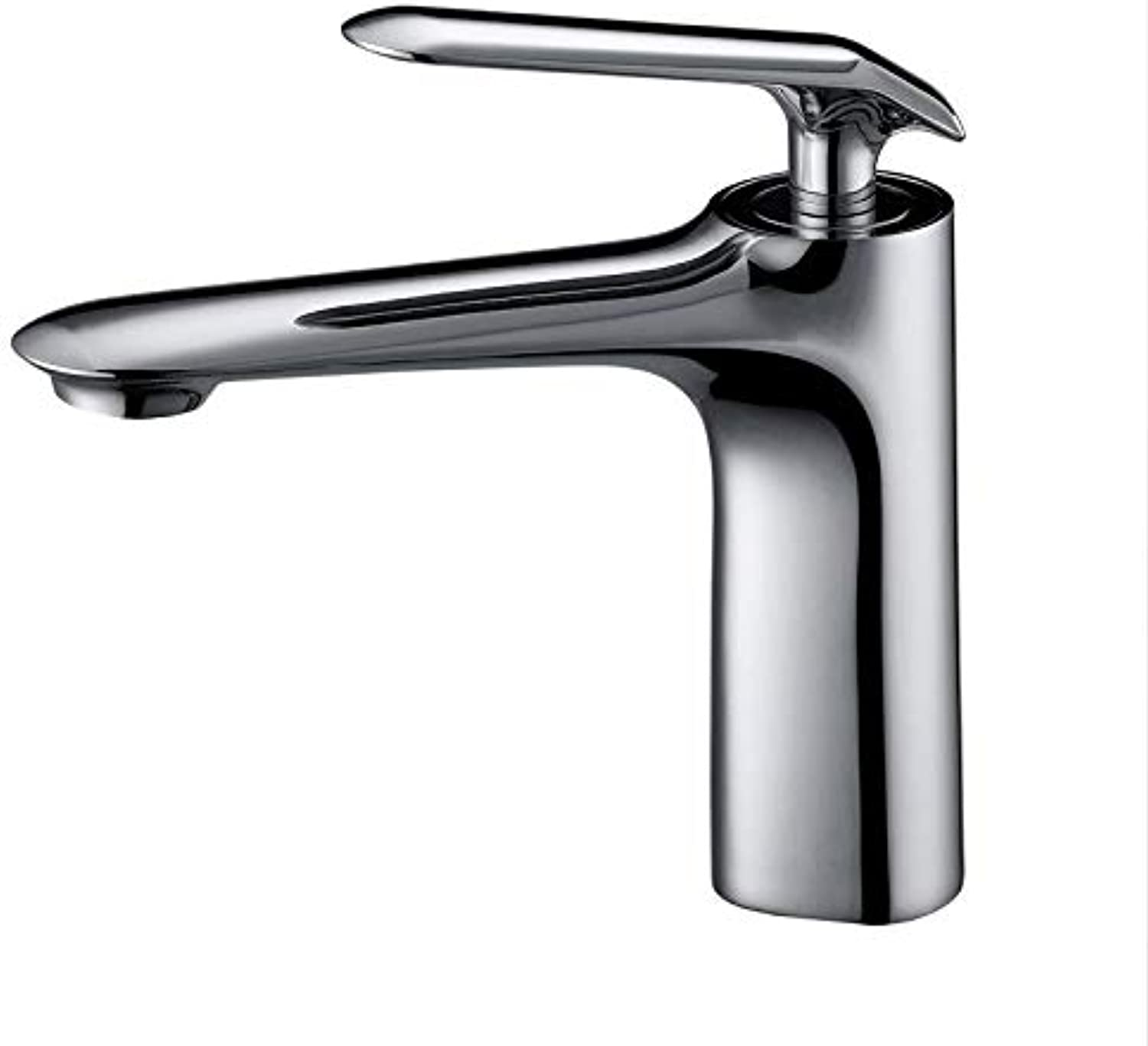 Taps Faucet Copper Hot and Cold Water Basin Faucet Silver Chrome Washbasin Faucet