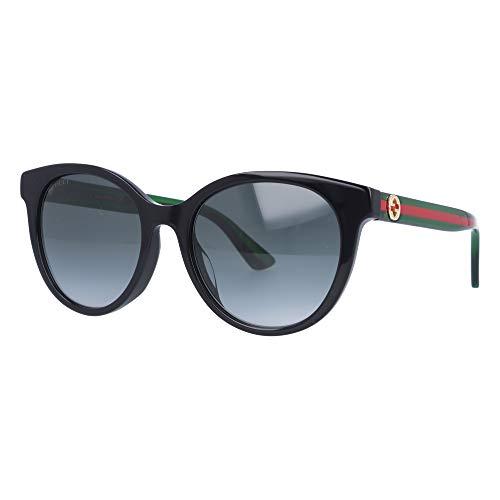 Gucci Sonnenbrillen GG0702SK BLACK GREEN RED/GREY SHADED 54/19/145 Damen