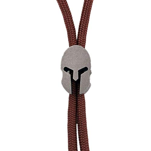 Sparta Spartan Shape Titanium Lanyard Beads Paracord Bead for Knife Zipper Pull Jewelry Paracord Flashlight Knuckles Bracelet Necklace Parachute Cord Beads 550 Paracord EDC Lanyard Bead Pendant