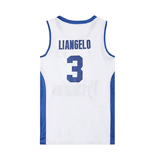 Auart Mens Jersey # 3 LiAngelo Kugel Vytautas Litauen Basketball-Nationalmannschaft Unisex Weiß Breath Basketball Swingman (Color : White, Size : M)