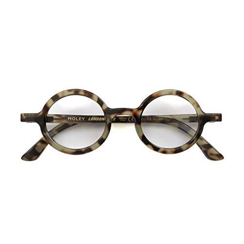 LONDON MOLE Eyewear   Moley Runde Lesebrille   Cool Leser   Herren Damen Unisex   Schildpatt   +1,5