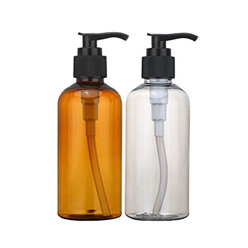 Lotionspumpenflaschen Plastik Leere Flasche Mit Pumper Pumpe Seifenspender Spender Pumpflaschen Nachfüllbare Schaumflaschen Für Küche Und Bad Gefüllt Mit Shampoo Duschgel Und Waschmittel 2 Stücke