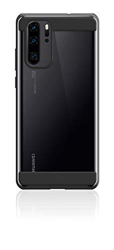 Black Rock - Air Robust Case Hülle für Huawei P 30 Pro | Durchsichtiges Cover, TPU, Dünn, kabellos Laden (Schwarz)
