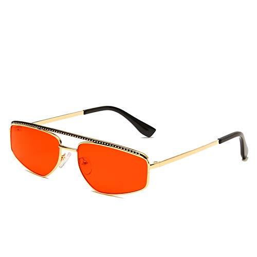 SXRAI Gafas de Sol Mujer Moda Metal Gafas de Sol Hombre Gafas,C1