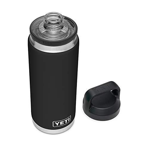 YETI Rambler 26 oz Bottle, Vacuum Insulated, Stainless Steel with Chug Cap, Black