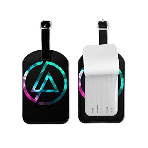 L.I.N.K.I.N P.A.R.K Etiquetas de equipaje de cuero personalizado maleta Tag Set etiquetas de identificación de equipaje Accesorios de viaje Microfibra PU cuero