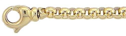 Gold Halskette Collier 8 k 333 Gelbgold Erbskette 50 cm