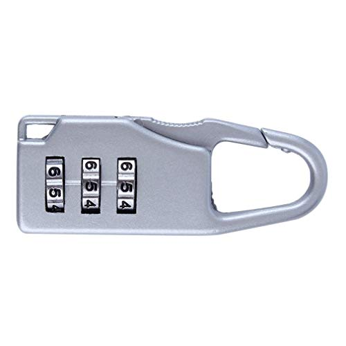Seguridad 3 Combinación Maleta de Viaje Equipaje Bolsa Código Bloqueo Cremallera Candado Blanco