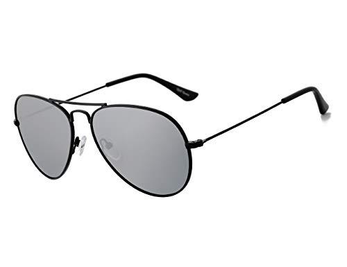 Rocf Rossini Gafas de Sol Aviador para Mujer Gafas Polarizadas Retro de Hombre con Protección UV400 para Pescar Conducir Playa(black/grey)