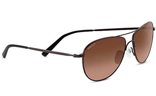 Serengeti Unisex-Erwachsene Alghero Sonnenbrille, Satin Dark Espresso/Drivers Gradient, Medium