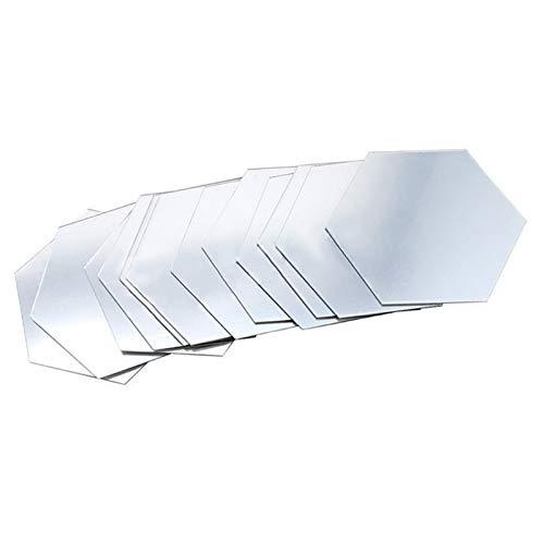TOPCL Adhesivo de espejo hexagonal, acrílico para pared, extraíble, espejo 3D, espejo hexagonal, lámina de pared para bricolaje, decoración de hogar, dormitorio, pasillo, etc.