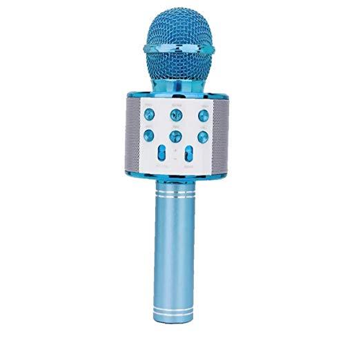 Odoukey Karaoke micrófono inalámbrico, Altavoz Reproductor de Karaoke portátil, Conveniente para el hogar KTV Fiesta al Aire Libre Muisc el Canto de Juego