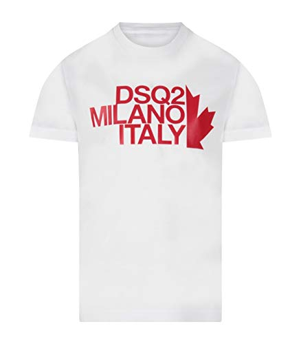 DSQUARED2 - T-Shirt Bianco 100% Cotone DQ0493 D002F DQ100