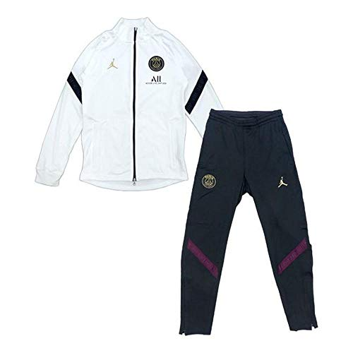 Nike Jordan Paris Saint-Germain Strike Big Kids' Soccer Tracksuit CK9695-100 White/Black/Black/Truly Gold White/Black/Black/Truly Gold M