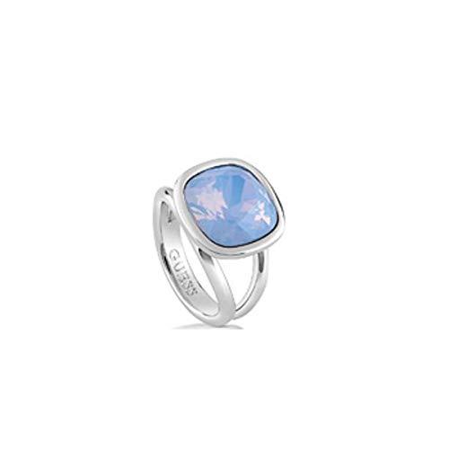 Guess CRYSTAL SHADES Damesring, kristal, blauw, maat 54 (17.2)-UBR61019-54